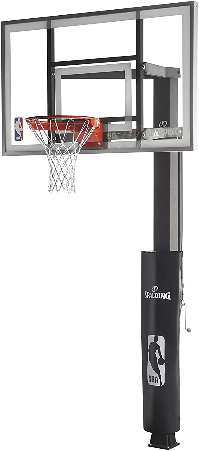 "Spalding ""888"" Series Glass In-Ground Basketball Hoop"